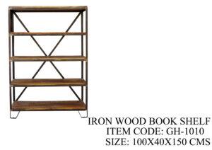 Iron Wood Book Shelf