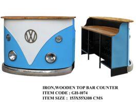 Iron,Wooden Top Bar Counter