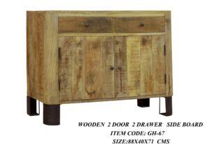 Wooden 2 Door 2 Drawer Side Board