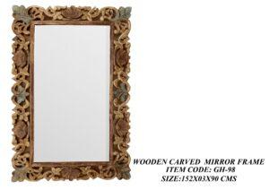Wooden Carved Mirror Frame