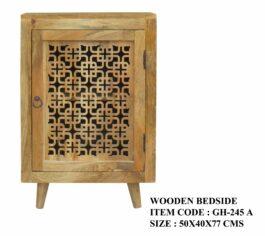 Wooden Bed Side