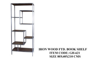 Iron Wood Fitted Book Shelf