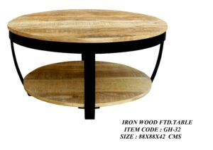 Iron Wood Fitted Table